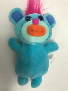 Sing-A-Ma-Jig Plush Toy Infant Sound Mouth Opens 2010 Fisher Price Mattel Blue