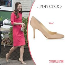 Kate Middleton Jimmy Choo Gilbert nude leather pumps, size 40, AUS 8.5