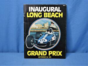 Rare! Vintage Original 1975 Inaugural Long Beach Formula 1 Grand Prix Program