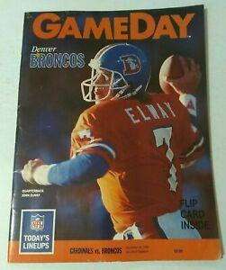 1989 Program NFL Phoenix Cardinals vs Denver Broncos & John Elway