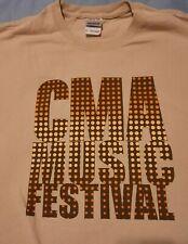 2Xl Cma Music Festival T-Shirt - 42nd Annual - 2013 - Tan - Pre-owned