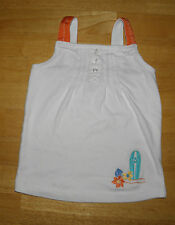 Gymboree Tropical Bloom White Surf Board Ribbon Tank Top Girls 3 Spring Summer