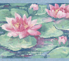 LOTUS POND WALLPAPER BORDER 948B75704
