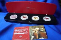 2009 Lunar Year Of The Ox Perth Mint Australia 1 oz Silver, 4 Coin Typeset Set