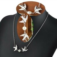 Women Fashion Jewelry Chain Birds Pendant Choker Chunky Statement Bib Necklace