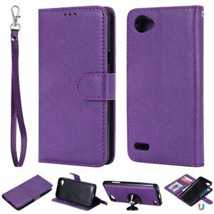 2 in 1 Removable Flip PU Leather Wallet Case Cover For LG Q8 Q6 V30 V20 K8 K10