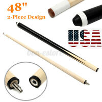 48'' 2-Piece Hardwood Billiard / Sport Pool House Cue Stick Joint Snooker ) US!