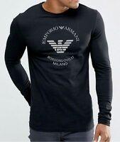 Black Emporio Armani Borgonuovo'11 Mens Long sleve T-shirt, Size M,L,XL