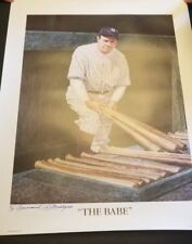 """1991 Babe Ruth Artist PROOF of """"The Babe"""" Auto by Armand LaMontagne 20"""" x 26"""""""