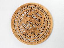 "Wandbild Holz ""Phönix"" Holzbild, chinesische Holzschnitzerei Relief geschnitzt"