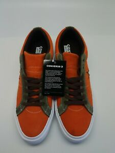 Converse One Star Pro Ox Orange Green White Casual Skating Shoes 161617C Sz 8.5
