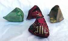 Chinese Embroidered Silk Zipped Change Purse - Assorted Colours - BNIB