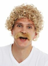 Wigs Moustache Carnival Halloween Men's Curly Curly Blonde 70er Years
