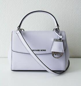Michael Kors AVA Bag XS Crossbody Leather Lavender Mist