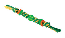 Puppy Teething Rope Dog Toy 63cm. Available in Blue+Red or Green+Yellow