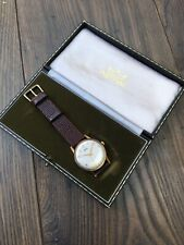 Vintage Smiths Astral Center Seconds Solid 9k Gold Gents Wristwatch With Box.
