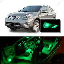 For Nissan Rogue 2008-2013 Green LED Interior Kit + Green License Light LED