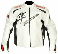 Suzuki Hayabussa Motorbike Original Cowhide Leather Jacket With CE Protections