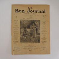 Le Bon Journal 243 revue de la famille 12 juin 1910 FLAMMARION Paris France