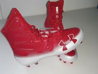 NEW Under Armour Highlight MC Men's Size 8 Red white 3000177-601 Football Cleats