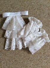 Jabot cravat and wrist cuffs set in white handmade-theatrical/fancy dress