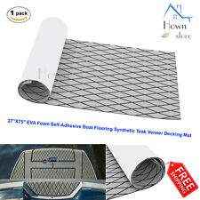 Lattice EVA Foam Self-Adhesive Boat Flooring Teak Decking Mat 27''x75''x0.20""