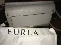 NEW $298 Furla Argilla Gray Satchel Crossbody