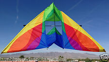 "Delta Box Kite Rocky Mountain Delta-Conyne 93x40"" RipStop Nylon + 2-Tails + Case"