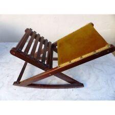 repose pied pliant bois vintage / s272-10 / lapt61