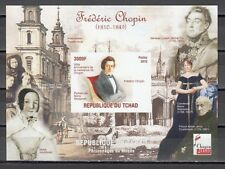 Chad, 2010 Cinderella issue. Composer Frederick Chopin, IMPERF s/sheet.  #5