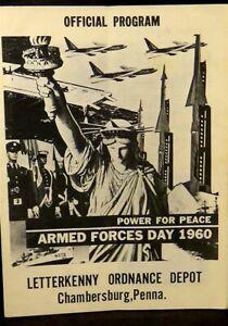 Official program, Letterkenny Ordnance Depot, Armed forces day 1960