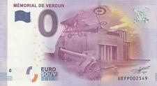 A 2016-1 BILLET 0 EURO SOUVENIR - UE FP - 55 MEMORIAL DE VERDUN