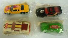 4 Hot Wheels Getty Promo Cars MIP VW Beetle Nissan ZX Camaro Z28 Thunderbird
