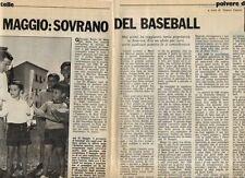 MA121-Clipping-Ritaglio 1974 Joe di Maggio baseball
