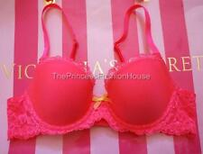 All New Victoria's Secret Dream Angels Lined Demi Lace Wing Bra Bling Hot Pink