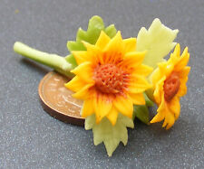 1:12 Scale Bunch Of Sun Flowers Dolls House Miniature Flower Garden Accessory