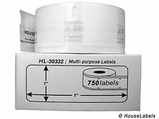 1 Roll of 750 Multipurpose Labels in Cartons for DYMO® LabelWriters® 30332