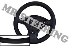 Pour Toyota RAV4 1994-2005 Italian Leather Steering Wheel Cover Black Stitch
