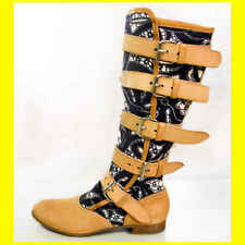 Authentic Vivienne Westwood Pirate Boots in Lace Print sz 37.5 new NIB