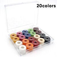 20 Stück Nähmaschinenspulen Mit Kasten Garnspule Spulen Nähen Aus Kunststoff