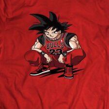 YOUTH DRAGON BALL Z GOKU WEARING JORDANS ART *OLDSKOOL* Shirt *FULL FRONT*