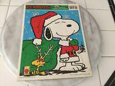 Vintage Peanuts MY FAVORITE CHRISTMAS PUZZLE Snoopy Santa Suit Woodstock