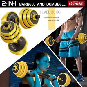 2 In 1 20KG Dumbbells Dumbbell Set Weight Plates Home Gym Fitness Exercise Iron