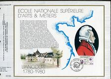 DOCUMENT CEF PREMIER JOUR  1980  TIMBRE   N° 2087 ECOLE NATIONALE ARTS ET METIER