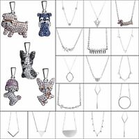 Fashion Sterling 925 Silver Necklace Chain Jewelry Zircon Animal Pendant Charms