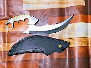 MH Custom Handmade Stainless Steel Hunting Knife Fixed Blade Buffalo Bone MH-314