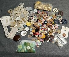 1.5 Pounds Vintage Sewing Buttons Mixed Sizes Colors Vintage & Metal Plastic.