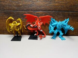 Yugioh Mattel Egyptian God Triple Pack Slifer, Obelisk & Winged Dragon Of Ra 2""