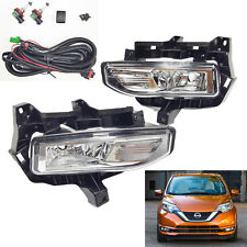 For 2017-2019 Nissan Versa Note Hatch Fog Driving Light Kit w/ Wire Switch Relay