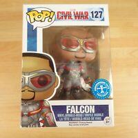 127 Funko Pop! Marvel Civil War Captain America Falcon Vinyl Bobble Head